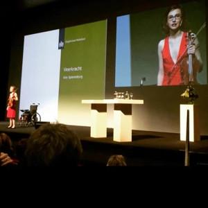 Kim Spierenburg op het podium